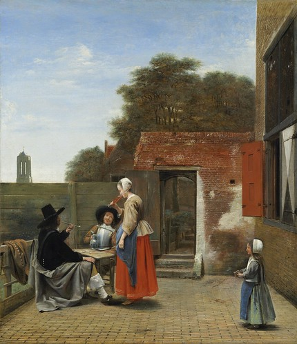 Pieter de Hooch - A Dutch Courtyard [1658-60] by Gandalf's Gallery