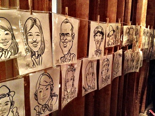 Caricature live sketching for Diageo Singapore Pte Ltd - j