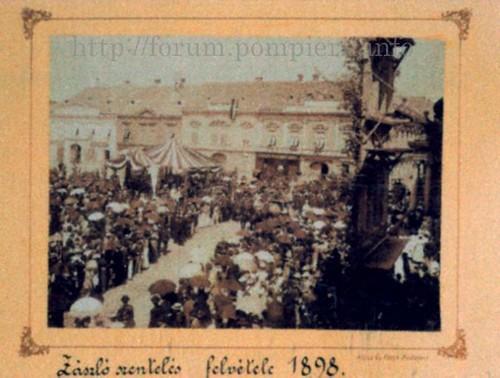 Ceremonia sfinţirii steagului pompierilor voluntari din cartierul Cetate - Timişoara