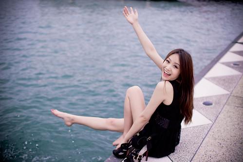 無料写真素材|人物|女性アジア|台湾人|人物海