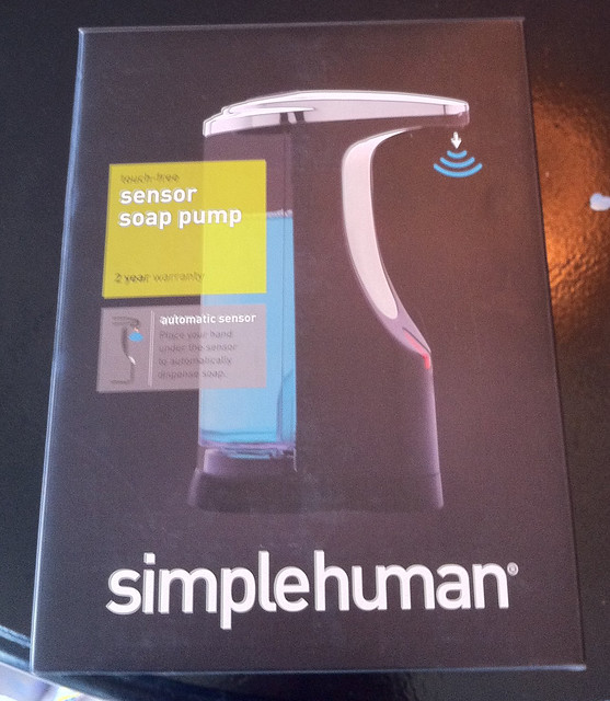 simplehuman touch-free soap dispenser