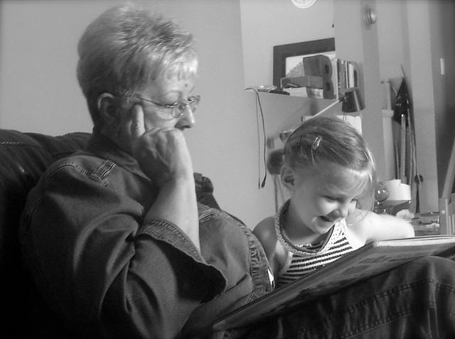 Grandma Zoey reading