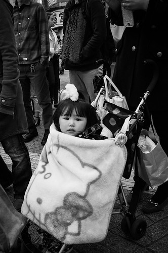 Child with Hello Kitty Blanket, Shibuya, Tokyo 2012