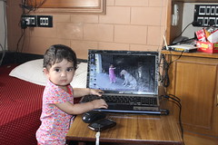 The Laptop Girl from Bandra Nerjis Asif Shakir 11 Month Old by firoze shakir photographerno1