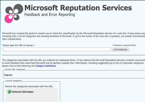 HUP @ Microsoft Reputation Services