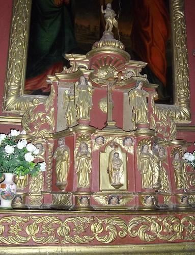 Eglise St Jean l'Evangéliste, Issor, Pyrénées Atlantiques, Aquitaine, France.