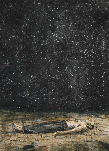 Star Full Colorful Deck Major Arcana Stock Illustration: Starfall Painted By Anselm Kiefer, 1995