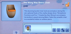 The Wong Way Bistro Chair