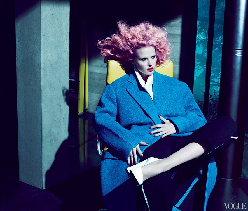 Risky Business - Vogue US, July 12 - Lara Stone and Joan Smalls by Mert & Marcus and styling by Camilla Nickerson
