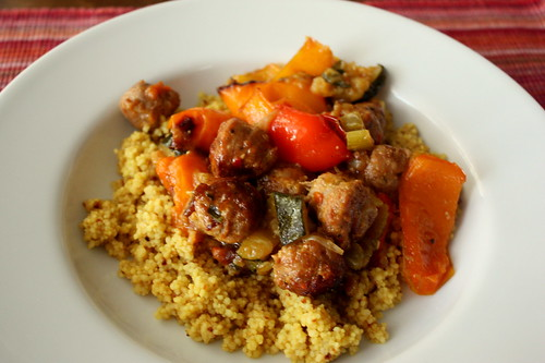 Roasted Vegetables and Italian Sausage with Couscous ...