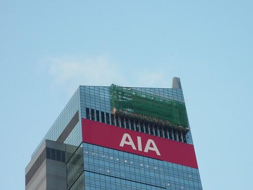 201109 HK。香港的竹棚架。鷹架