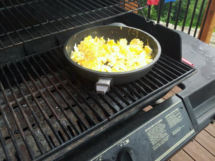 Omelette on the bbq