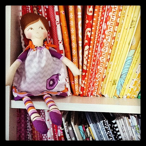 Fabric fairy on the shelf. @doohikeydesigns @intrepidthead