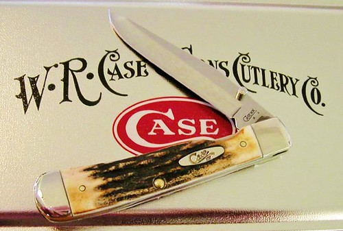 "Case Genuine Stag TrapperLock 4-1/8"" Closed (5154 SS) Gift Box/Tin"