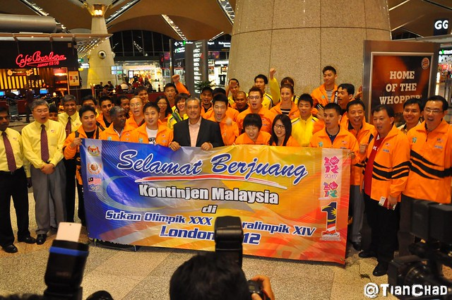 Dato' Lee Chong Wei LCW London 2012 Olympic Games Airport Send off by SGB