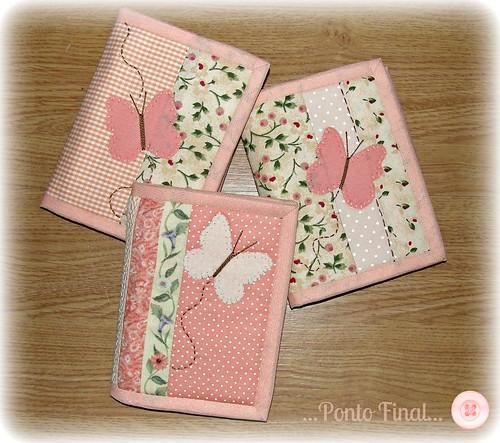...Capinhas para cadernetinhas de anotações... by Ponto Final - Patchwork