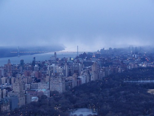 Snow storm approaching down the Hudson river