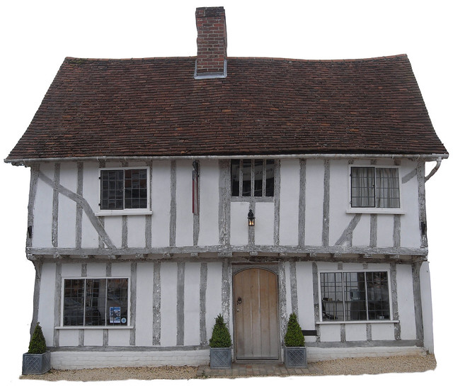 15th Century House White Walls and Timber Frame