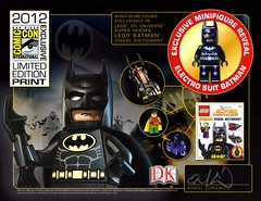 LEGO SDCC 2012 Exclusive Limited Edition BATMAN Print.
