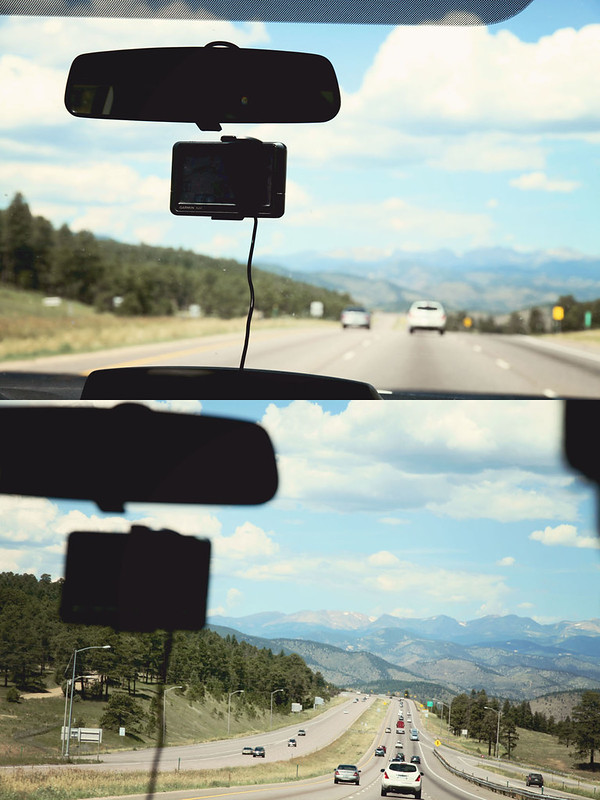 driving to Aspen 1 diptych
