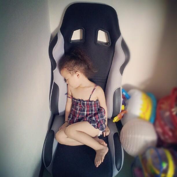 20120730 打完皂 這隻睡著了!