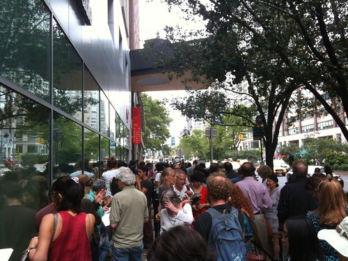"The line outside Christian Marclay's ""The Clock"""