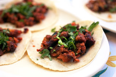 fish al pastor tacos @ santos mariscos