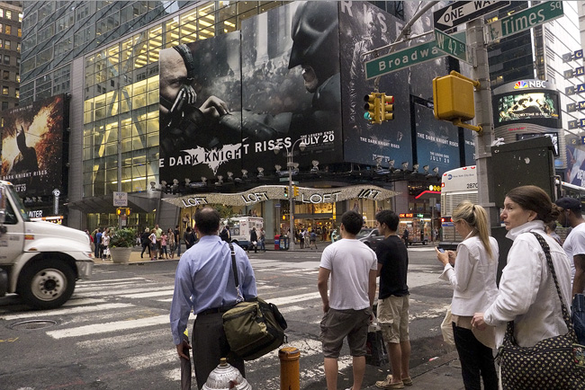 Dark Knight, Times Square