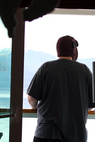 Leaving Glacier Bay - Mike's Back