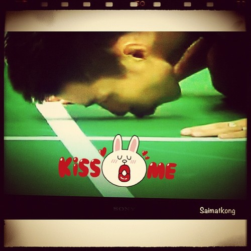 London Olympic 2012 - Winning kiss from Datuk Lee Chong Wei! Bravo!
