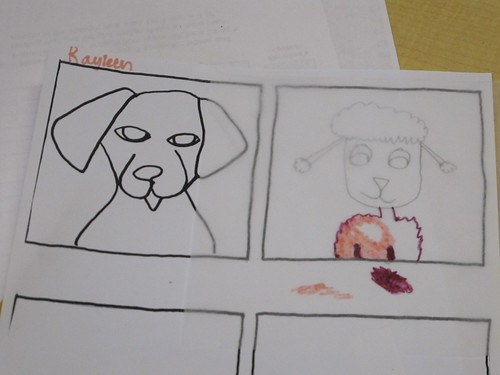 Dog drawings in class #2