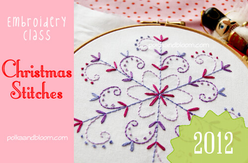 Christmas Stitches Class 2012