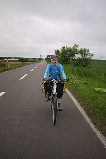 Cycling on quiet back roads near Shari (Hokkaido, Japan)