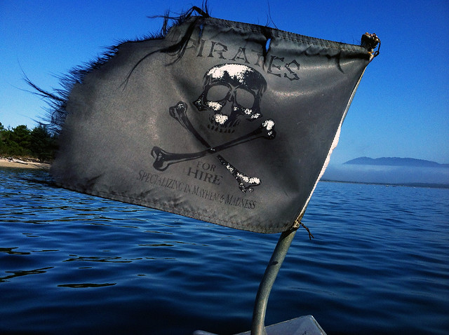 Crab boat flag