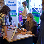 Lari Don book signing | Lari Don signs books for her young readers