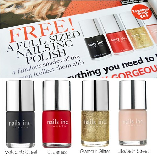 Glamour magazine Free Nails Inc November 2012