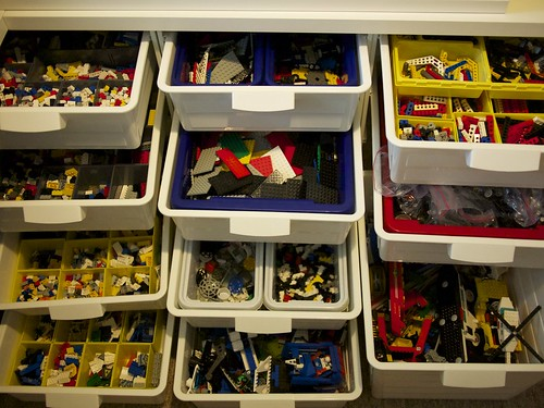 Drawers and drawers of LEGO