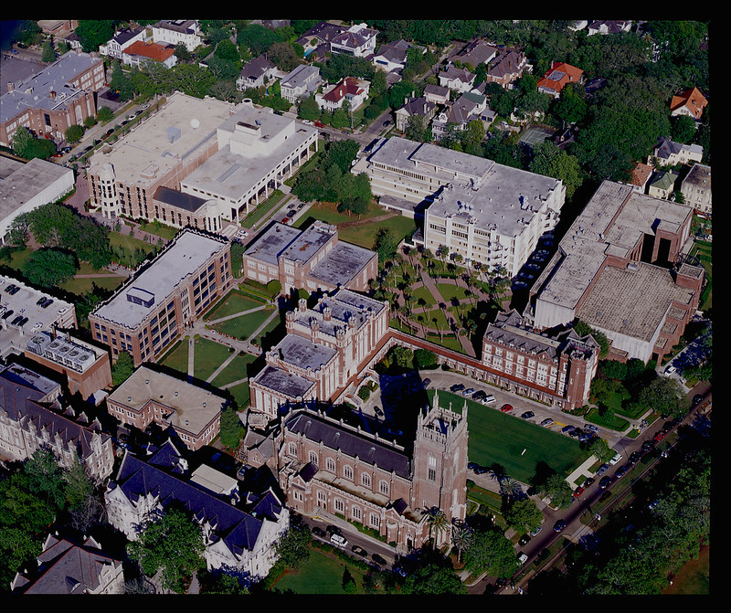 Aerial Image of Campus Today