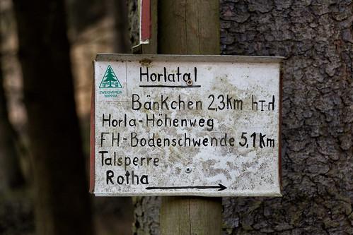 Schild Horlatal