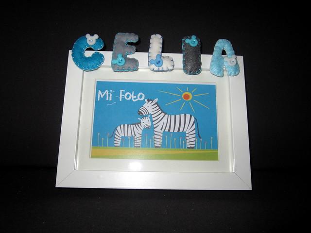 Marco de fotos personalizado - Celia