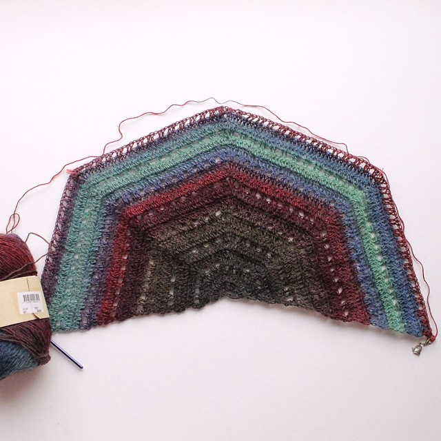 I have wanted to #crochet this shawl since 2009.