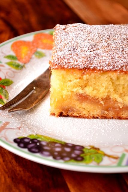 Rhubarb and Ginger Jam Cake Recipe