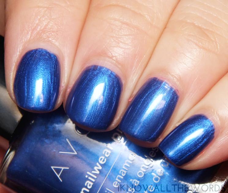 avon nailwear pro cosmic blue