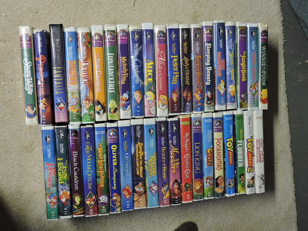 my disney vhs collection