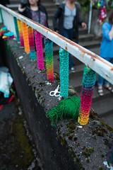Yarn bombing Besançon 14