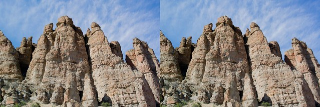 The Palisades, John Day Fossil Beds, in 3D
