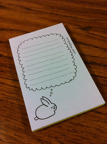 Dreaming Bunny Notepad is so cute.