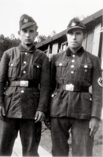 Gunter Grass in 1944 (at right), in German labor service