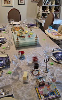Pesach Table and new Seder Plate