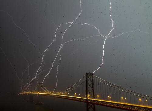 Bay Bridge Lightning Strike!